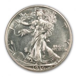 1936 50C Walking Liberty Half Dollar PCGS PR65 (CAC)