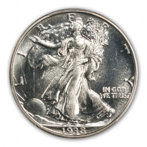 1938 50C Walking Liberty Half Dollar PCGS PR66 (CAC)