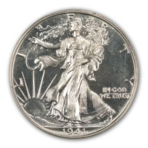 1941 50C Walking Liberty Half Dollar PCGS PR66 (CAC)