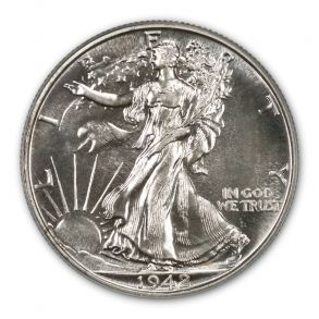 1942 50C Walking Liberty Half Dollar PCGS PR67 (CAC)