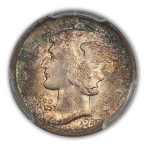 1920 10C Mercury Dime PCGS MS67FB