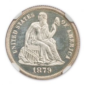 1879 Seated Liberty Dime 10C NGC PR67CAM