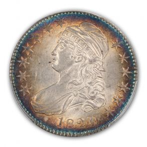 1824 50C Over Various Dates Capped Bust Half Dollar PCGS MS62