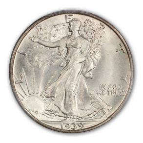 1939-S 50C Walking Liberty Half Dollar PCGS MS67+ (CAC)