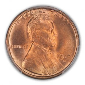 1919-D 1C Lincoln Cent - Type 1 Wheat Reverse PCGS MS66RD